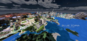 blue topia map minecraft pe