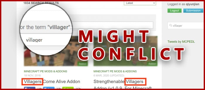Villager Knight Addon