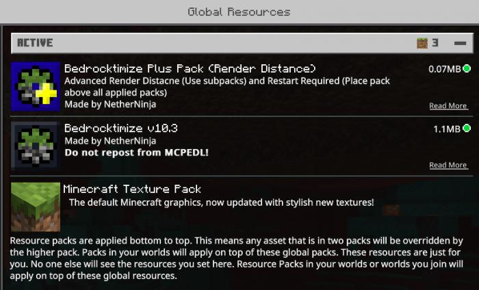 Bedrocktimize Pack