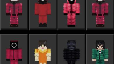 Squid Game Skin Pack [15 Skins]   Minecraft PE Skin Packs - MCPE AddOns