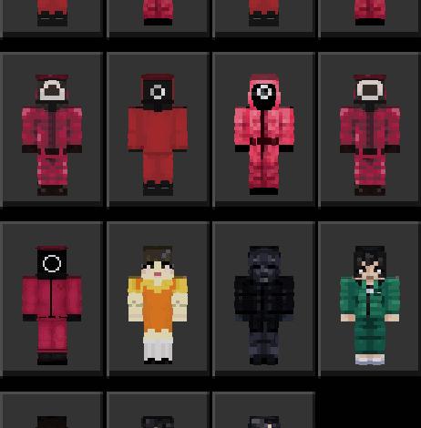 Squid Game Skin Pack [15 Skins] | Minecraft PE Skin Packs - MCPE AddOns